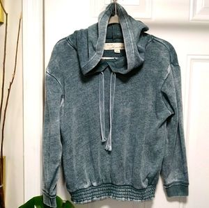 Vintage Havana Cropped Hooded Sweatshirt S